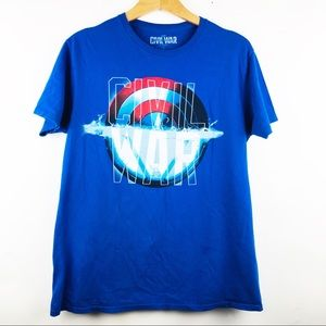 Marvel Captain America Civil War T Shirt Sz Large